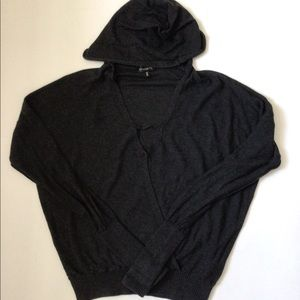 Hooded Wrap Sweater